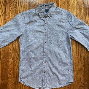 J.Crew men's button down long sleeve grey shirt